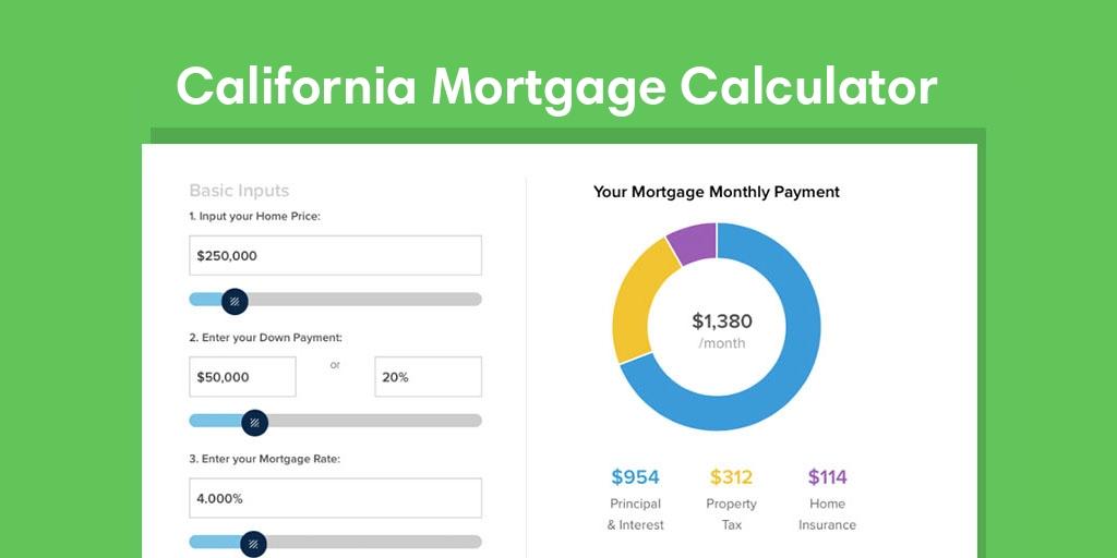 California Tax Calculator >> California Mortgage Calculator With Taxes And Insurance